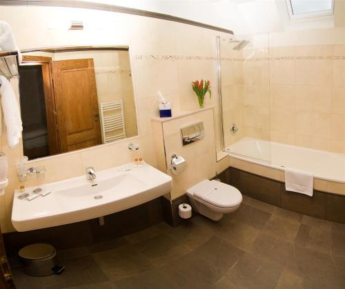 Koupelna v ubytování Hotel Princess