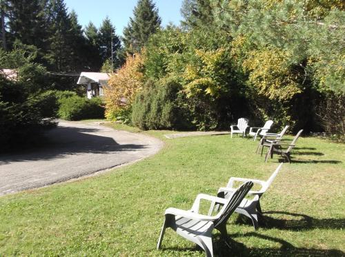 Jardin de l'établissement Auberge Mountain View Inn