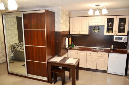 Кухня или мини-кухня в Apartaments Tornades