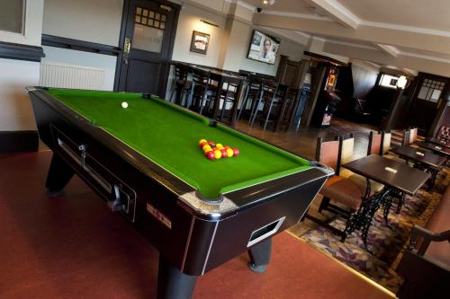 A pool table at The Crown Inn