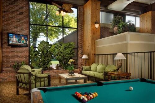 A pool table at Northwest Inn
