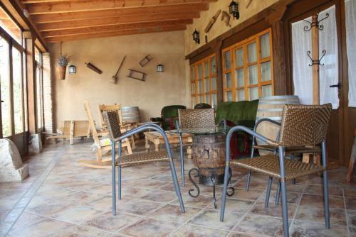 A seating area at El Jardin de la Huerta