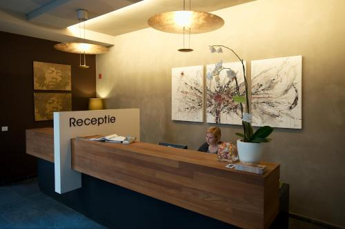 The lobby or reception area at Hotel Matelote