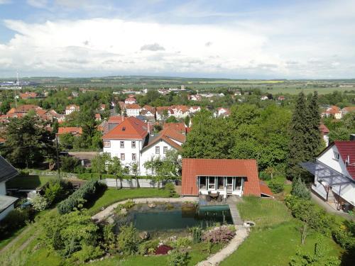 Pension Villa am Burgberg с высоты птичьего полета