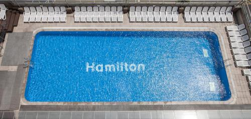 A view of the pool at Hamilton Hotel or nearby
