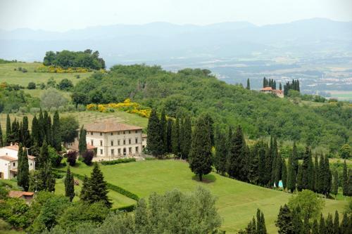 A bird's-eye view of Villa Campestri Olive Oil Resort