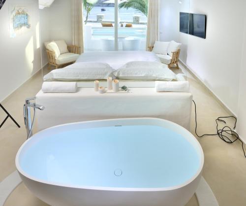 A bathroom at Nissaki Boutique Hotel