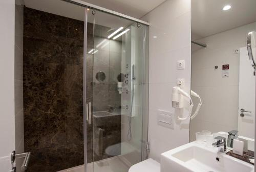 A bathroom at The 7 Hotel
