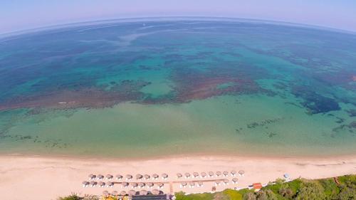 A bird's-eye view of Alonaki Beach
