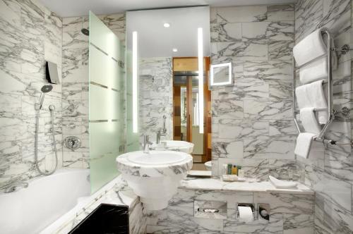 A bathroom at Hilton Stockholm Slussen Hotel