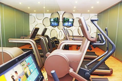 The fitness center and/or fitness facilities at Aria Hotel Budapest by Library Hotel Collection