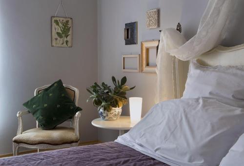Letto o letti in una camera di B&B La Cuntana