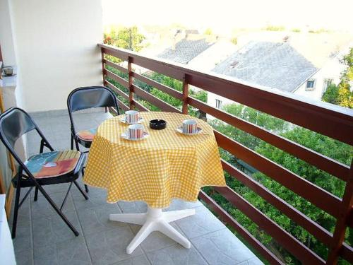 A balcony or terrace at Fured Apartments