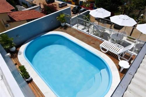 A view of the pool at Hotel Agua Marinha or nearby