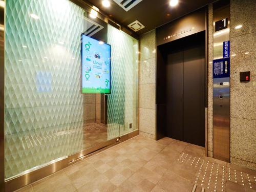 A bathroom at Super Hotel Namba Nipponbashi