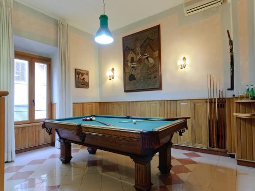Mesa de billar en Hotel Museum