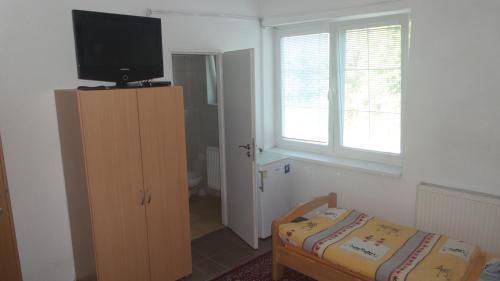 Телевизор и/или развлекательный центр в Ubytovanie v súkromí Mária Bullová
