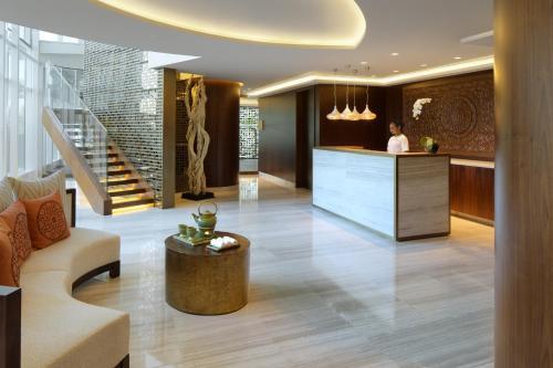 The lobby or reception area at Taj Dubai
