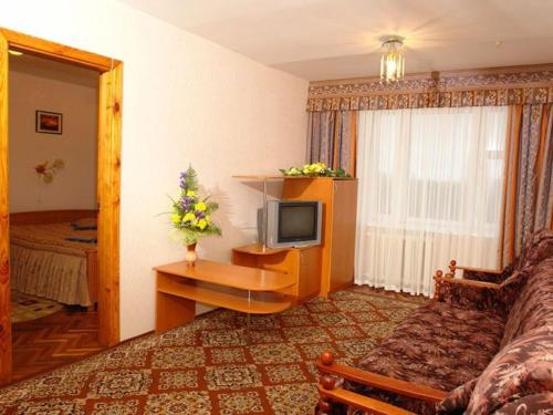 A television and/or entertainment center at Profssoyuzny Hotel