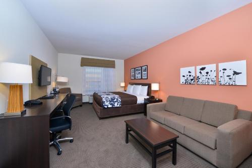Setusvæði á Sleep Inn & Suites Austin – Tech Center