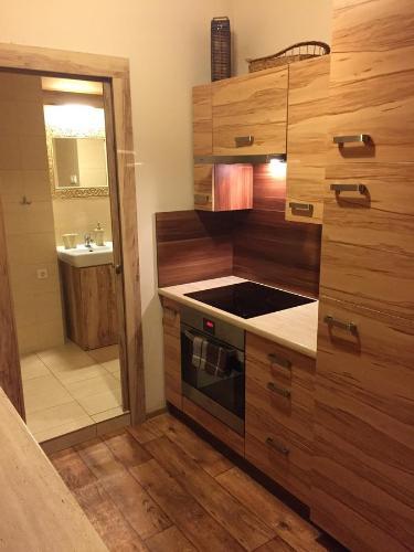 A kitchen or kitchenette at Kawalerka Fredry 3/13