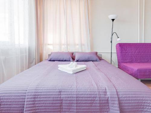Кровать или кровати в номере ROTAS On Moskovsky 224 Floor 9