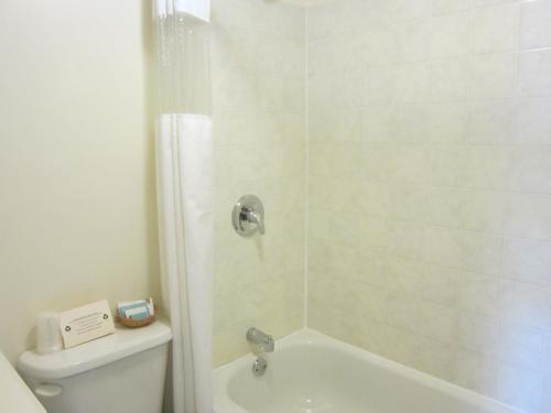 A bathroom at Bulkley Valley Motel
