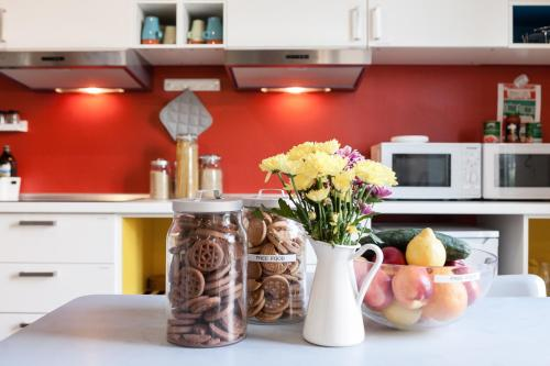 貝洛格蘭德旅舍廚房或簡易廚房