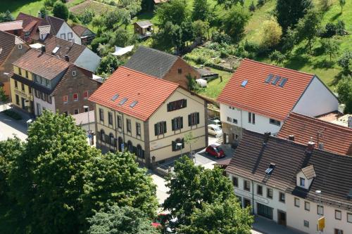 Blick auf Gästehaus stuttgART36 aus der Vogelperspektive