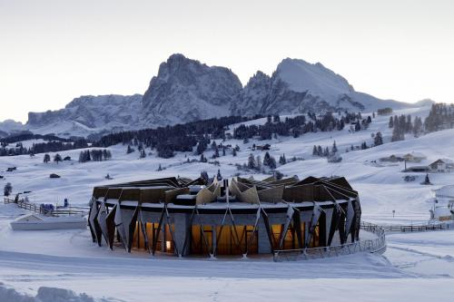 Alpina Dolomites during the winter