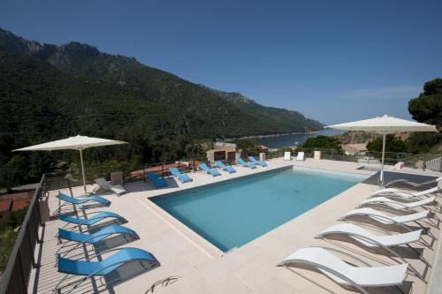 The swimming pool at or near Hotel Kalliste