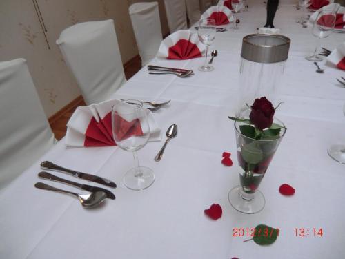 Een restaurant of ander eetgelegenheid bij Hotel Restaurant Jonkhans