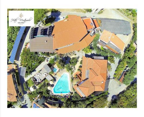A bird's-eye view of Hotel Montemerlo