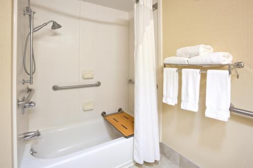 A bathroom at Holiday Inn Express Cedar Rapids - Collins Road, an IHG Hotel