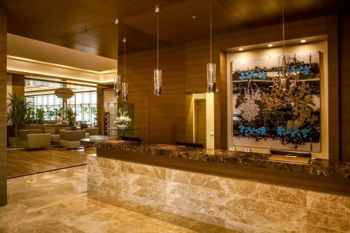 The lobby or reception area at Gorrion Hotel Istanbul