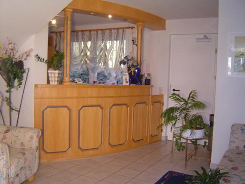 Lobby/Rezeption in der Unterkunft Landhotel Mühlberg