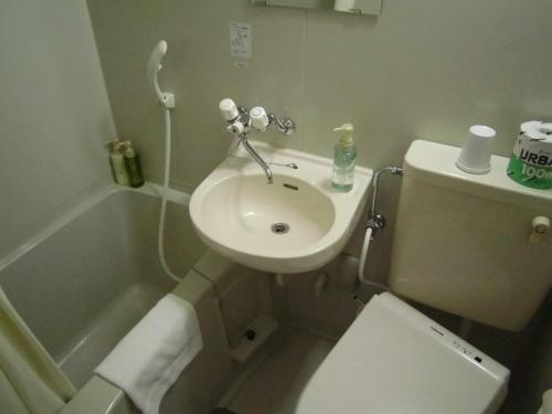 A bathroom at Eco and Tec Kyoto