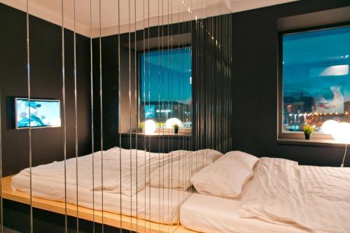 Кровать или кровати в номере Аpartments original space