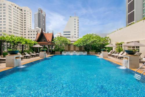 The swimming pool at or near The Sukosol Hotel Bangkok