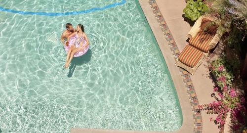 The swimming pool at or close to La Fonda on the Plaza