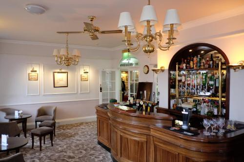 The lounge or bar area at The Crescent Hotel