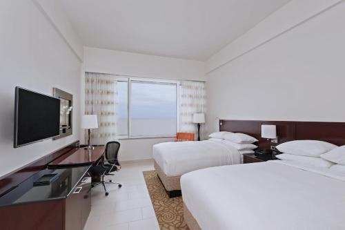 A television and/or entertainment center at Guyana Marriott Hotel Georgetown