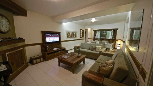 A seating area at Residencial Recanto Do Bosque