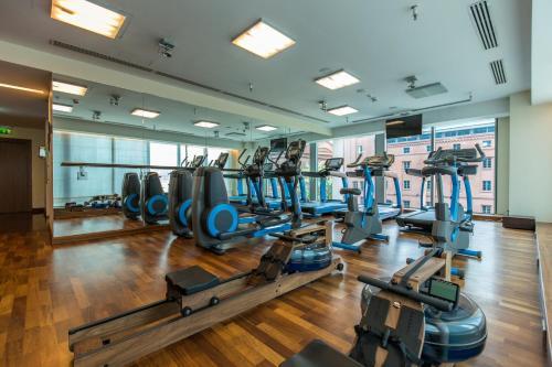 Das Fitnesscenter und/oder die Fitnesseinrichtungen in der Unterkunft IBB Andersia Hotel