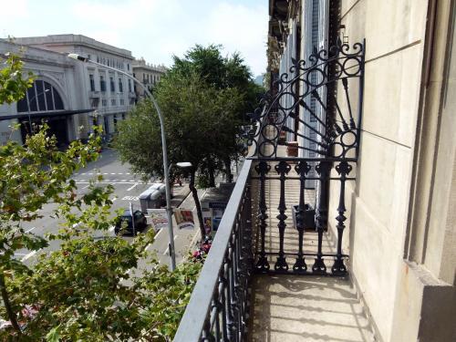 A balcony or terrace at Hostal Nuevo Colon
