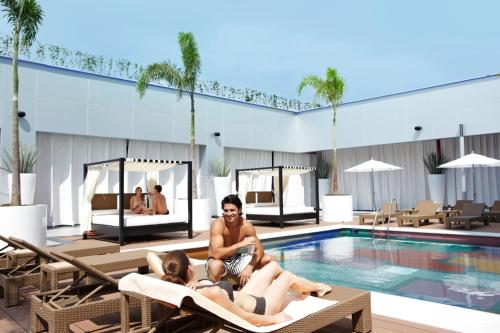 The swimming pool at or near Riu Plaza Guadalajara