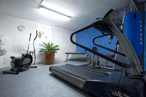 Fitnes oz. oprema za telovadbo v nastanitvi The Blue House