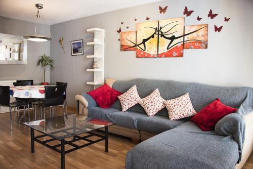 Zona de estar de Apartamento Valencia Center II