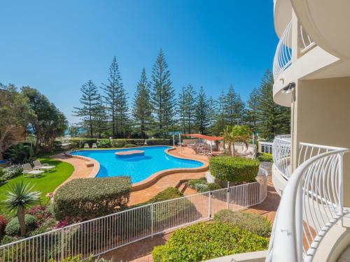 A view of the pool at Burleigh Surf Apartments or nearby