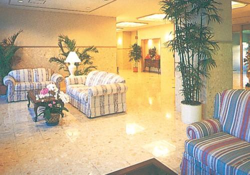 A seating area at Misawa City Hotel